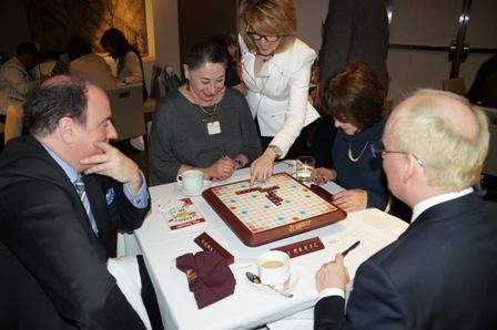 JM, Marilyn, Dini, Mark, Robin playing